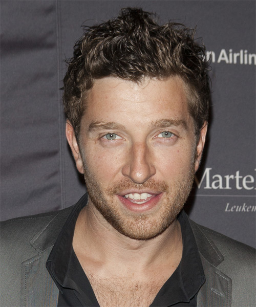 Brett Eldredge Short Straight Casual Hairstyle - Medium Brunette Hair Color