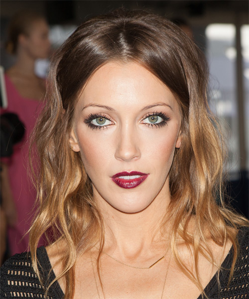 Katie Cassidy Medium Wavy Casual Hairstyle - Medium Brunette Hair Color