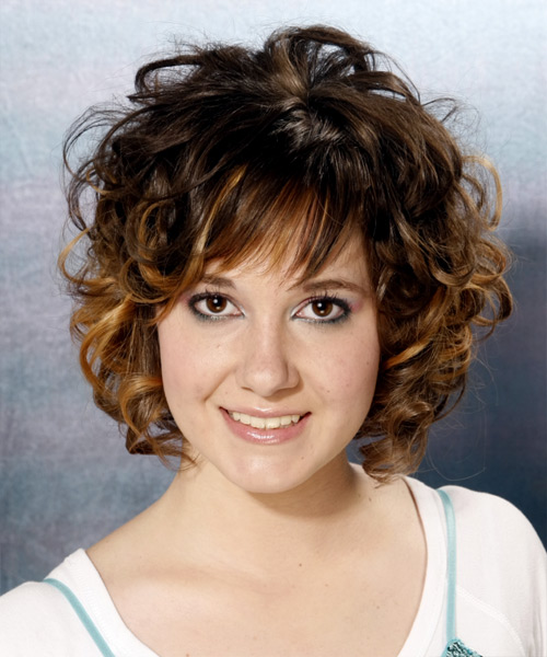 Medium Curly Formal Hairstyle - Dark Brunette (Mocha) Hair Color