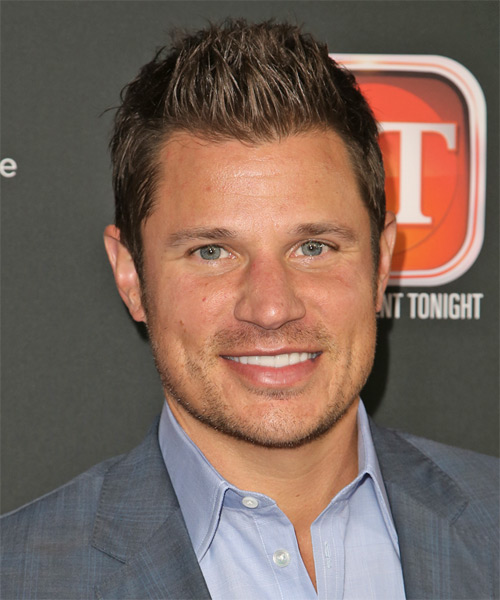 Nick Lachey Short Straight Casual Hairstyle - Medium Brunette Hair Color