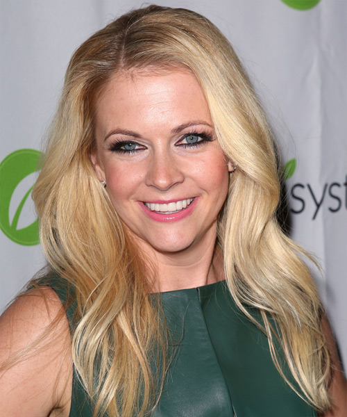 Melissa Joan Hart Long Straight Casual Hairstyle - Light Blonde Hair Color