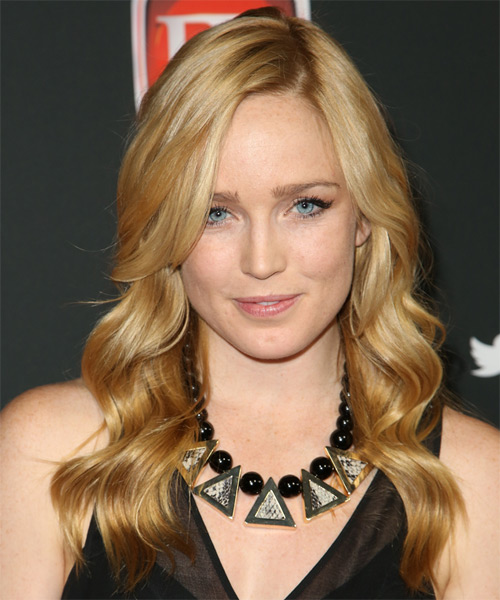 Caity Lotz Long Wavy Formal Hairstyle - Dark Blonde (Honey) Hair Color