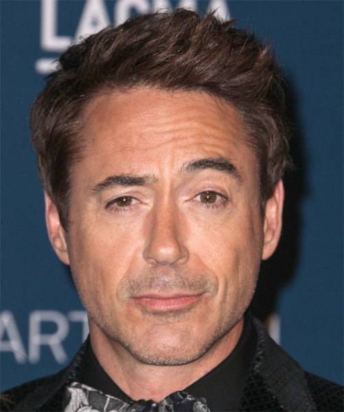 Robert Downey Jr Short Straight Casual Hairstyle - Medium Brunette Hair Color