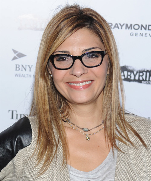 Callie Thorne Long Straight Casual Hairstyle - Dark Blonde Hair Color