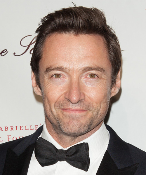 Hugh Jackman Short Straight Casual Hairstyle - Medium Brunette (Chocolate) Hair Color
