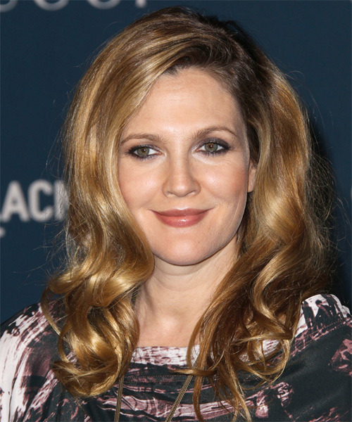 Drew Barrymore Long Straight Hairstyle - Dark Blonde (Golden)