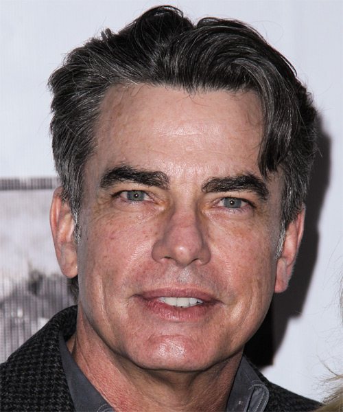 Peter Gallagher Short Straight Hairstyle - Dark Grey