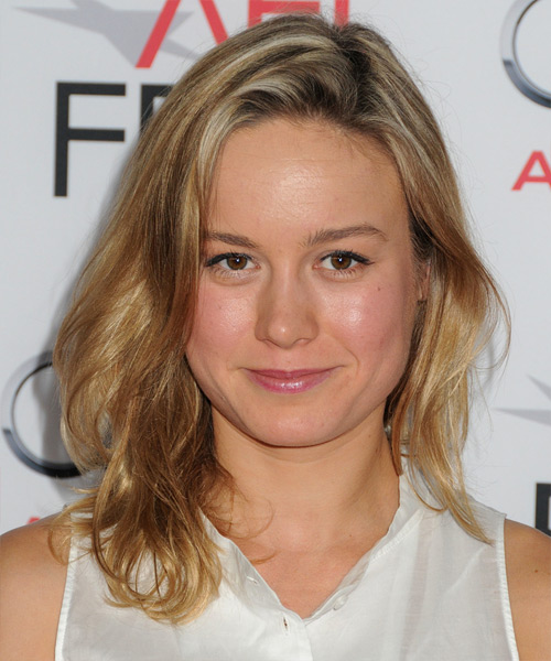Brie Larson Medium Straight Casual Hairstyle - Dark Blonde (Golden) Hair Color