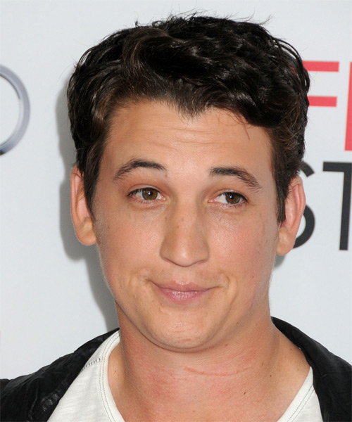 Miles Teller Short Wavy Casual Hairstyle - Dark Brunette (Mocha) Hair Color