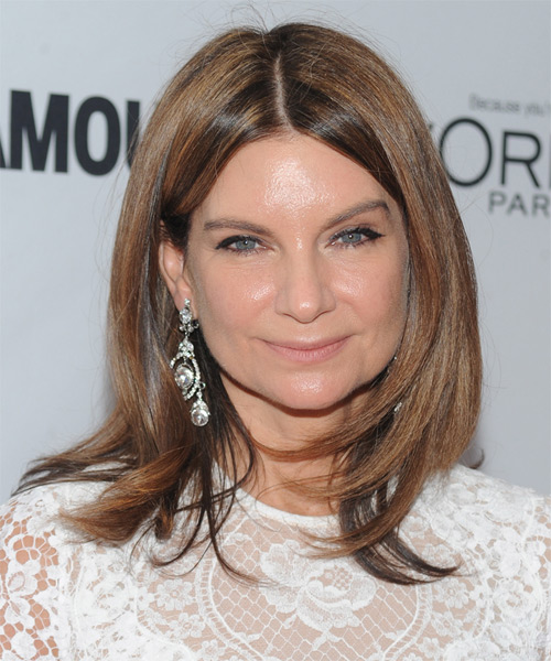 Natalie Massenet Medium Straight Formal Hairstyle - Light Brunette (Chestnut) Hair Color
