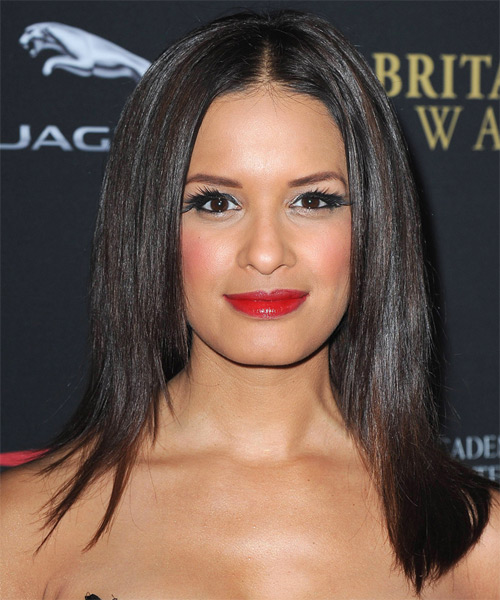Rocsi Diaz Long Straight Hairstyle - Dark Brunette (Mocha)