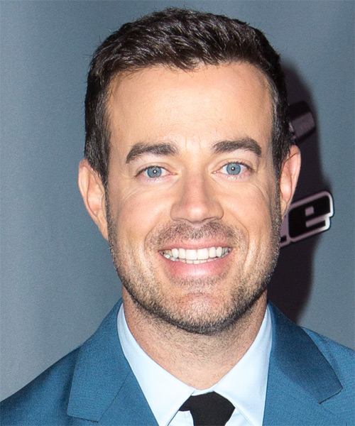 Carson Daly Short Straight Casual Hairstyle - Dark Brunette Hair Color