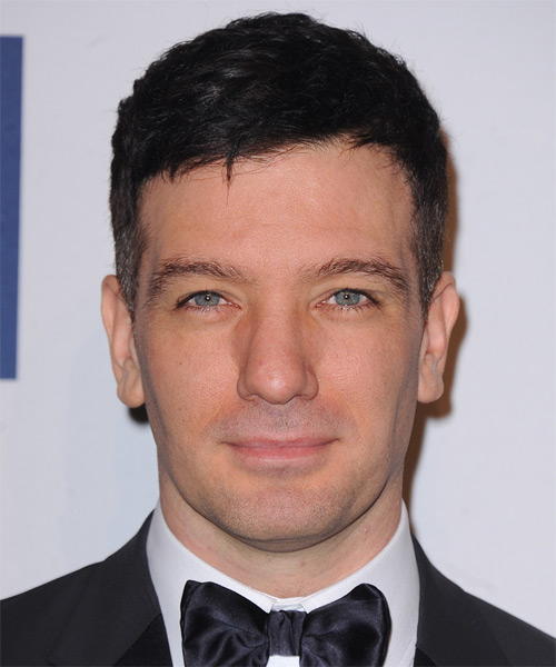 JC Chasez Short Straight Formal Hairstyle - Dark Brunette Hair Color