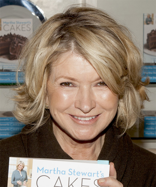Martha Stewart Medium Straight Casual Hairstyle - Medium Blonde Hair Color