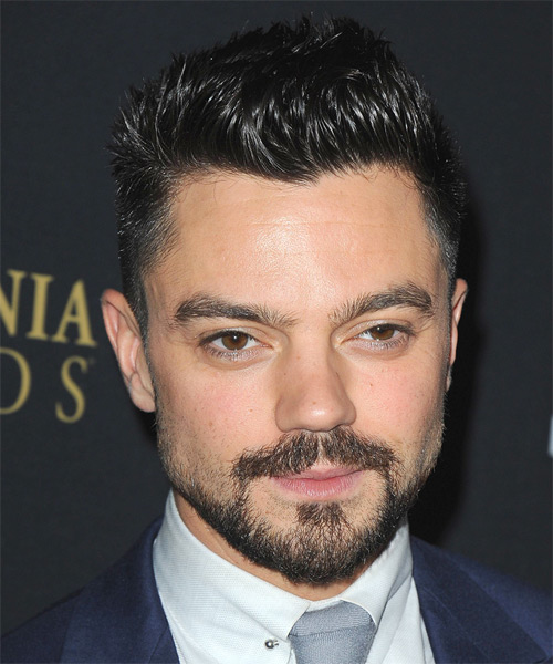 Dominic Cooper - Straight  Short Straight Hairstyle - Black
