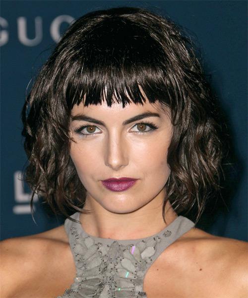 Fine Camilla Belle Short Wavy Casual Bob Hairstyle Dark Brunette Hairstyles For Women Draintrainus