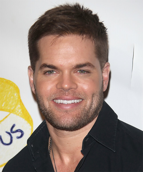 Wes Chatham Short Straight Hairstyle - Medium Brunette (Chestnut)