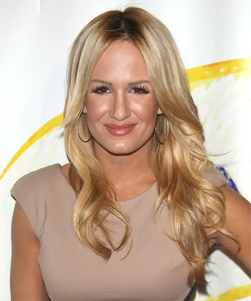 Jenn Brown Long Straight Formal Hairstyle - Light Blonde (Honey) Hair Color
