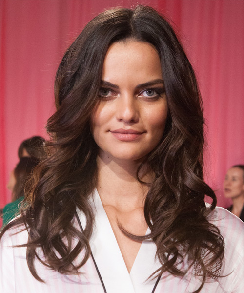 Barbara Fialho Long Wavy Casual Hairstyle - Dark Brunette (Mocha) Hair Color