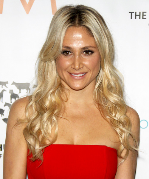 Kimberly Ovitz Long Wavy Casual Hairstyle - Light Blonde Hair Color