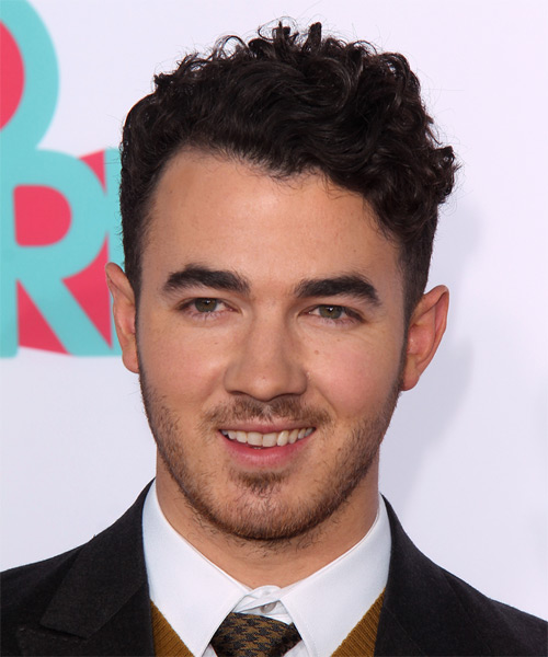 Kevin Jonas Short Curly Casual Hairstyle