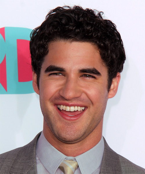 Darren Criss Short Curly Casual Hairstyle - Dark Brunette (Mocha) Hair Color