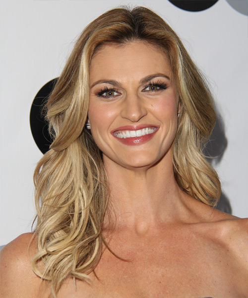 Erin Andrews Long Straight Hairstyle - Medium Blonde