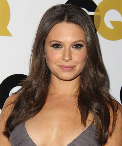 Katie Lowes Long Straight Hairstyle - Medium Brunette (Ash)