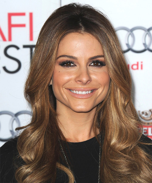 Maria Menounos Long Wavy Hairstyle - Medium Brunette (Chestnut)