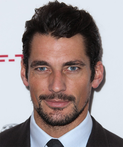 David Gandy Short Straight Hairstyle - Dark Brunette