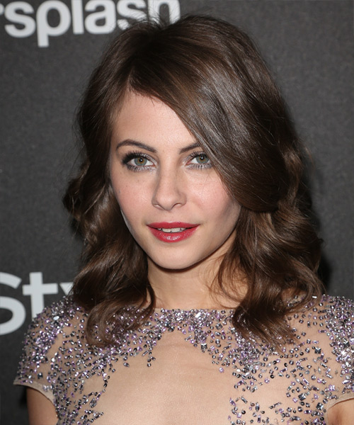 Willa Holland Medium Wavy Hairstyle - Medium Brunette