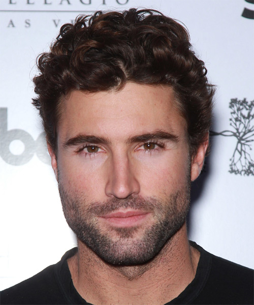 Brody Jenner Short Curly Casual Hairstyle - Medium Brunette Hair Color