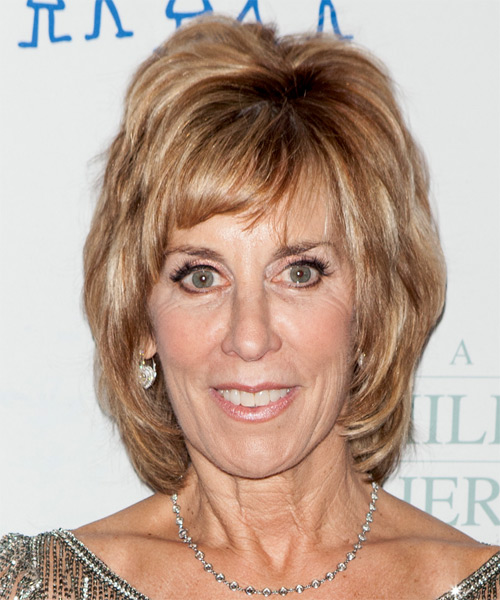 Nancy Spielberg Short Straight Formal Hairstyle - Dark Blonde (Golden) Hair Color