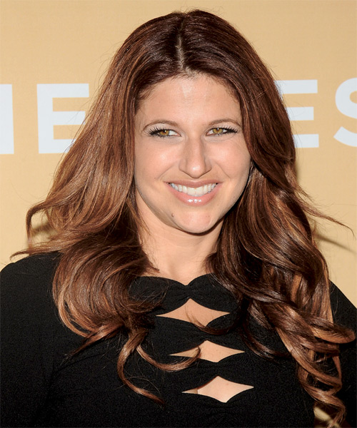 Rachel Nichols Long Wavy Hairstyle - Medium Brunette (Auburn)