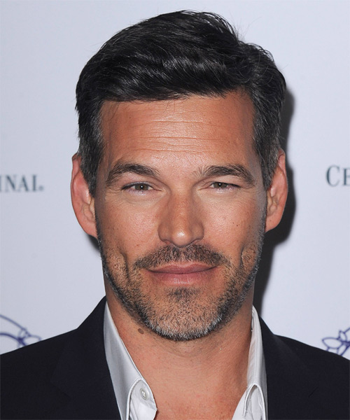 Eddie Cibrian Short Straight Formal Hairstyle - Black Hair Color