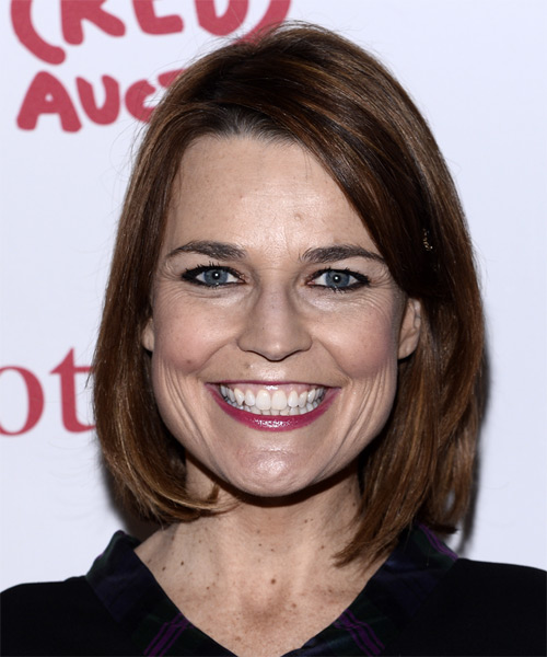 Savannah Guthrie Medium Straight Casual Bob Hairstyle - Medium Brunette (Mocha) Hair Color