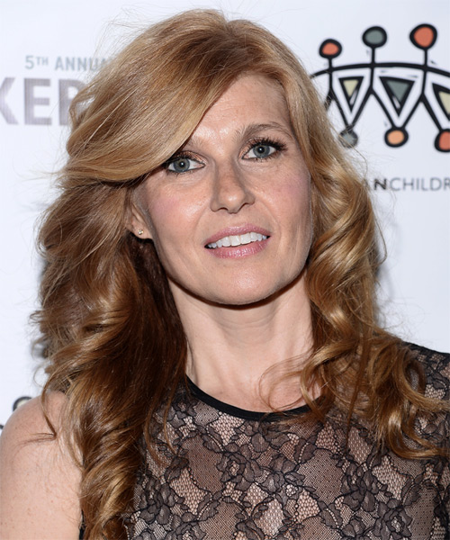 Connie Britton Long Curly Hairstyle - Medium Blonde (Strawberry)