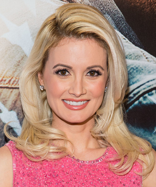 Holly Madison Long Straight Hairstyle - Medium Blonde (Golden)