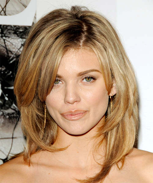 AnnaLynne McCord Long Straight Hairstyle