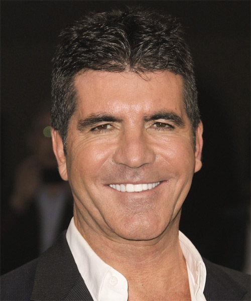 Simon Cowell Short Straight Casual Hairstyle - Dark Brunette Hair Color