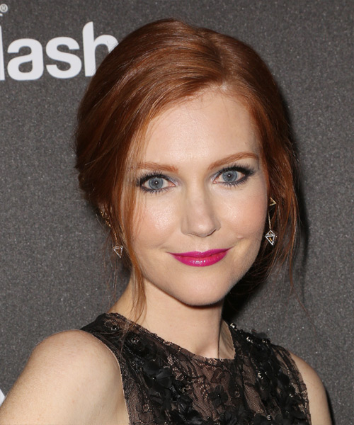 Darby Stanchfield Formal Straight Updo Hairstyle - Medium Red (Ginger)