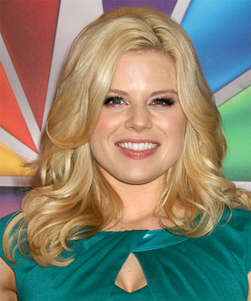 Megan Hilty Medium Straight Formal Hairstyle - Medium Blonde (Honey) Hair Color