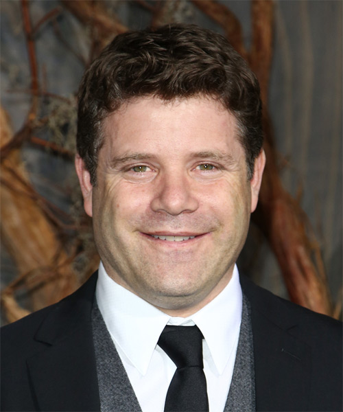 Sean Astin Short Wavy Casual Hairstyle - Medium Brunette Hair Color