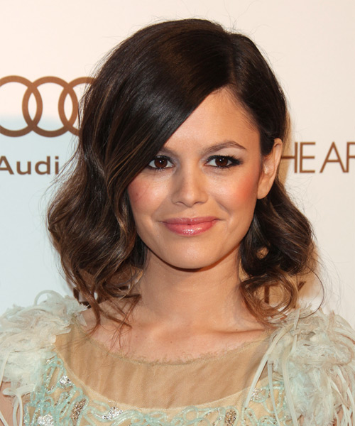 Rachel Bilson Medium Wavy Formal Hairstyle - Dark Brunette Hair Color