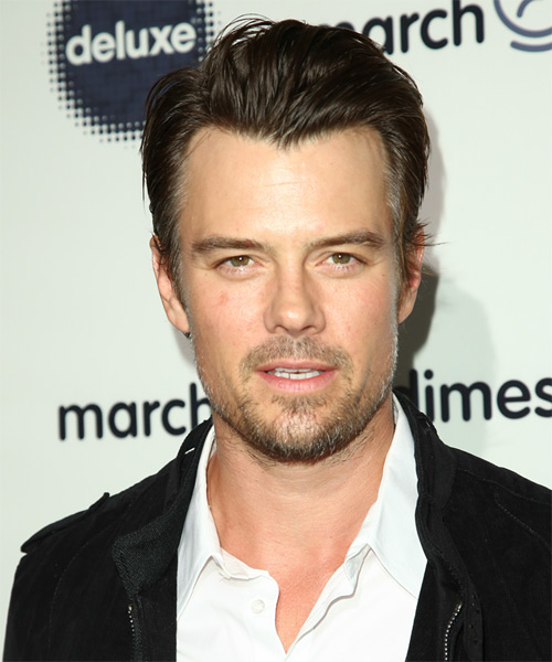 Josh Duhamel Short Straight Casual Hairstyle - Medium Brunette Hair Color