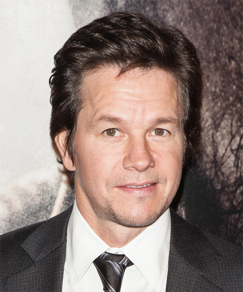 Mark Wahlberg Short Straight Formal Hairstyle - Medium Brunette (Chocolate) Hair Color