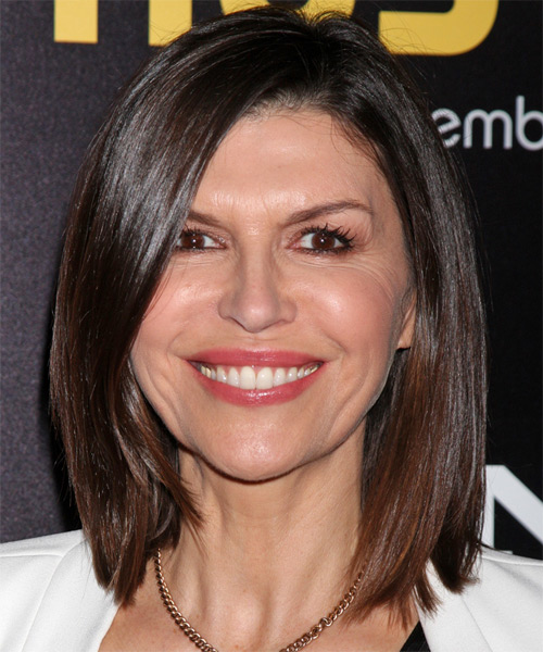 Finola Hughes Medium Straight Formal Hairstyle - Medium Brunette Hair Color