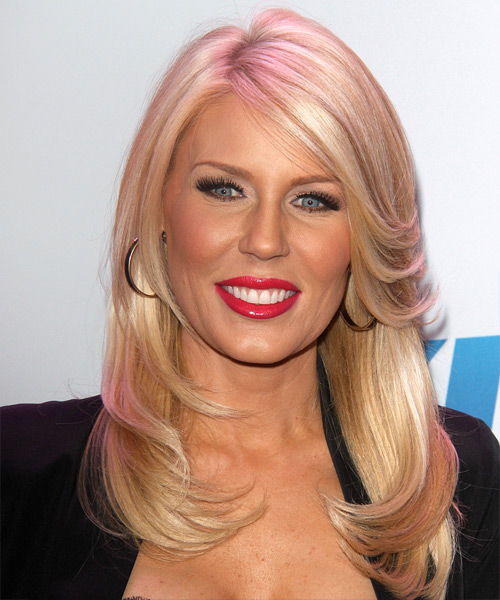 Gretchen Rossi Long Straight Formal Hairstyle - Medium Blonde (Strawberry) Hair Color