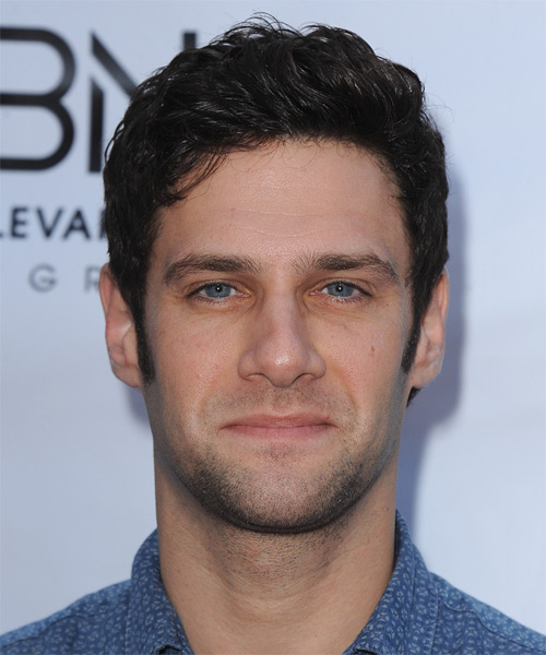 Justin Bartha Short Wavy Casual Hairstyle - Dark Brunette (Mocha) Hair Color