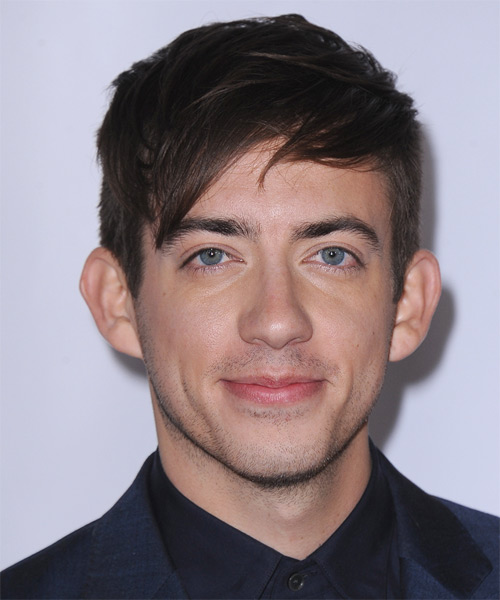 Kevin McHale Short Straight Casual Hairstyle - Dark Brunette Hair Color